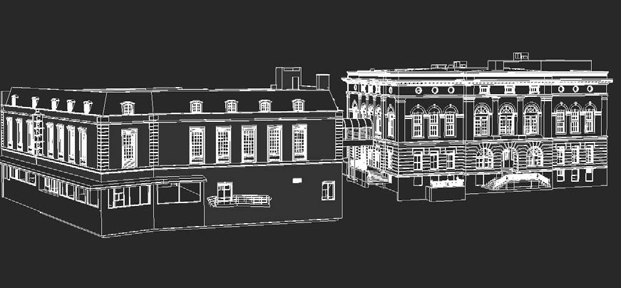 3D AutoCAD Model of the Arts Center